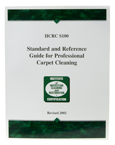 IICRC Carpet Cleaning Standard Book S100