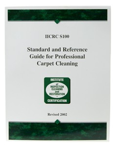 "IICRC S100 lists the  standard steps included in each of 5 industry-accepted cleaning methods, based on the Principles of Cleaning. The 5 methods include: absorbent compound, absorbent pad, dry foam, shampoo, and ""steam"" cleaning. There is no attempt to compare methods or declare a ""best method."" Rather the focus is on specifying standard steps that must be included in the proper use of each."