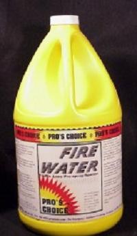 As its name implies, Fire Water is very high performance. It combines the detergency of Ultra TLC with a higher pH.  The result is a cleaner that is unbeatable for the tough fine particulate soils such as red clay, carbon dust, and etc. It is effective on both oil and water soluble soils Dilution: Up to 1.2 oz. to a gallon water pH at dilution: 12 Container Sizes: Gallon Form: Liquid